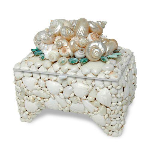 White Seashell Box
