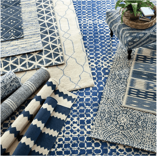 Argo Navy Hand Knotted Wool Rug