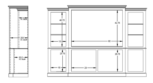 Brunswick Island Four Piece Wall Unit