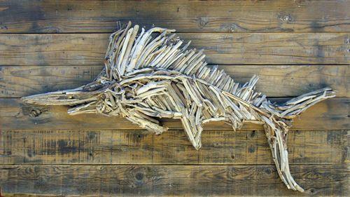Chincoteague Wild Driftwood Horse