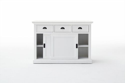 Classic Cottage Buffet Cabinet with Sliding Doors