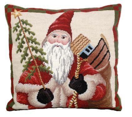 Colonial Santa Christmas Pillow