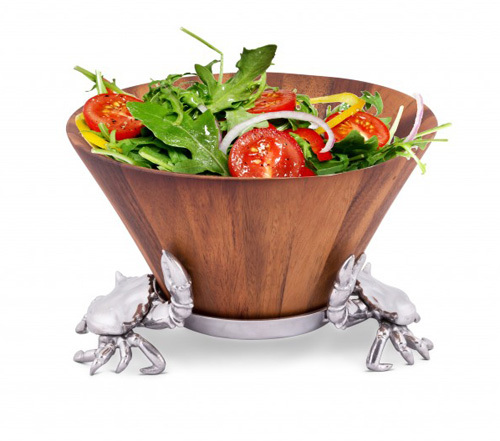 Crab Wood Tall Salad Bowl *Backorder