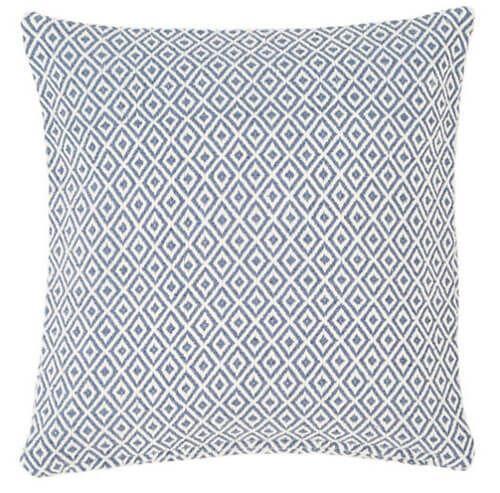 Crystal Denim/Ivory Indoor/Outdoor Pillow