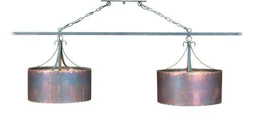 Double Copper Drum Chandelier
