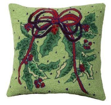 Holly Bough Christmas Pillow