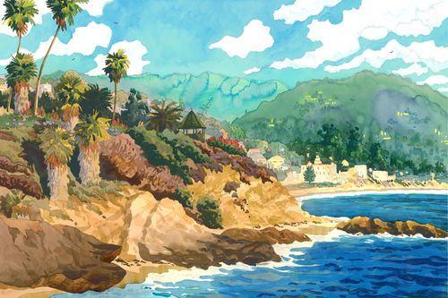 In the Spirit of Laquna Beach Print