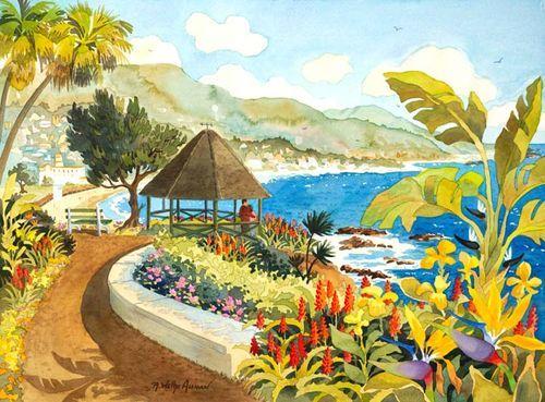 Laguna Gazebo Beach Print
