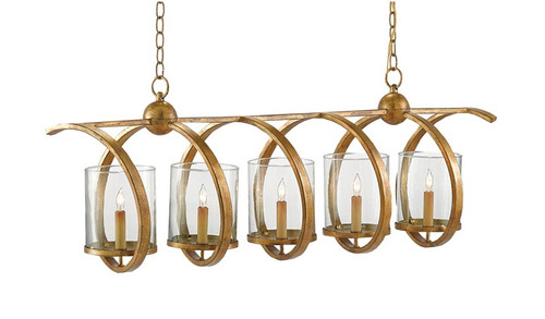 Maximus 5-Light Chandelier in Two Finishes