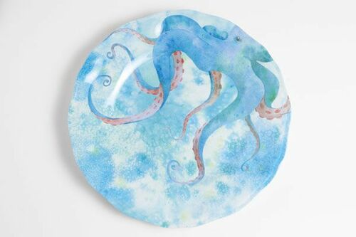 Octopus Melamine Dinner Set with Platter
