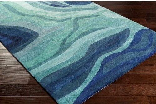 Pigments Dark Blue Hand Tufted Rug