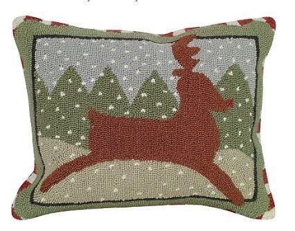 Reindeer Christmas Pillow