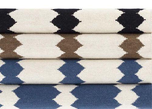 Senna Ivory/Black Woven Wool Rug