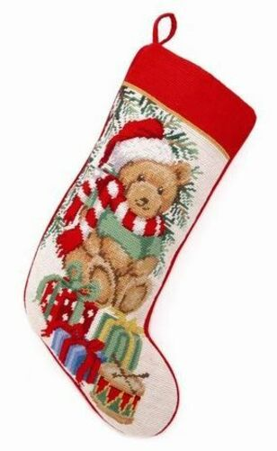 Teddy Bear Christmas Stocking<font color =a8bb35> Sold out</font>