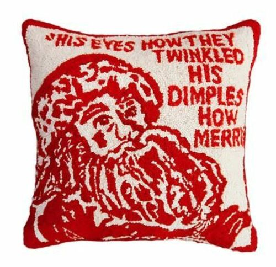 Twinkle Santa Christmas Pillow
