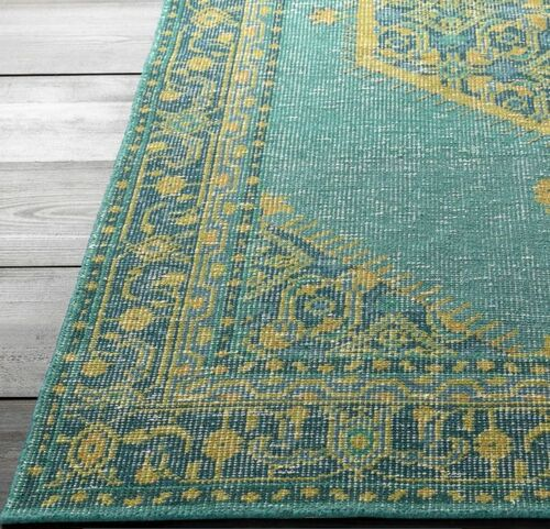 Zahra Emerald  Hand Knotted Rug