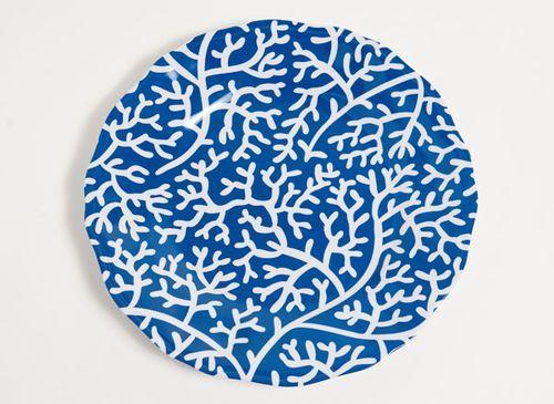 Blue Coral Melamine Dinner Set with Platter
