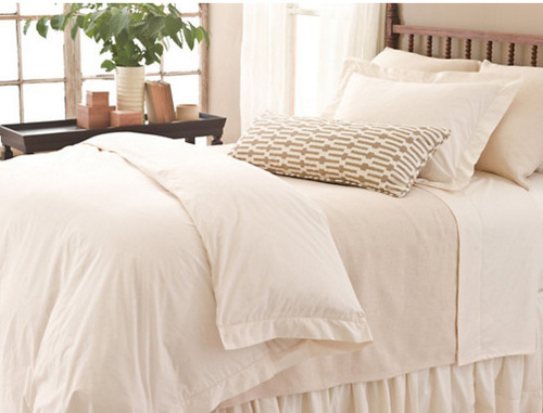 Classic Hemstitch Ivory Duvet Cover
