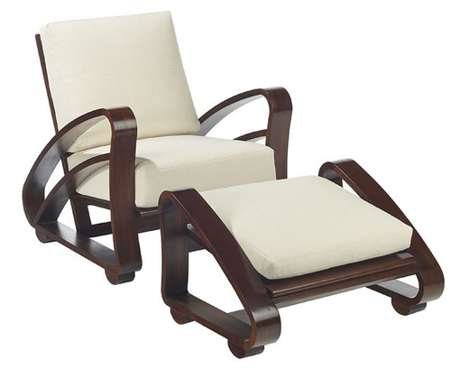 Cuban Lounge Chair and Ottoman in Mahogany