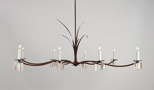Marsh Grass and Shells Chandelier