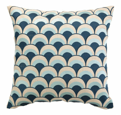 Double Arches Navy/Sky Embroidered Pillow