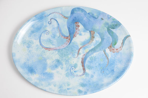 Octopus Melamine Dinner Set with Platter