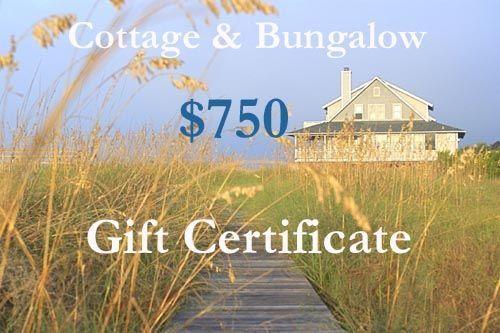 Seven Hundred Fifty Dollar Gift Certificate