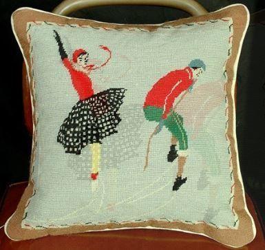 Skater Christmas Pillow