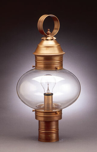 10 Onion Light Fixture for Post - No Cage <font color=a8bb25> Sold Out</font>