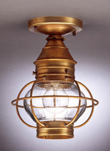 8 Onion Flush Mount Caged Light Fixture  <font color=a8bb25> Sold Out</font>