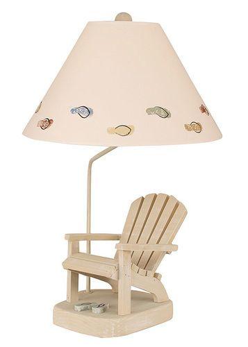 Adirondack Chair Lamp with Weathered Paratan Flip Flops