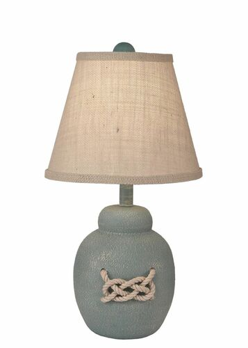 Weathered Atlantic Grey White Nautical Knot Accent Lamp