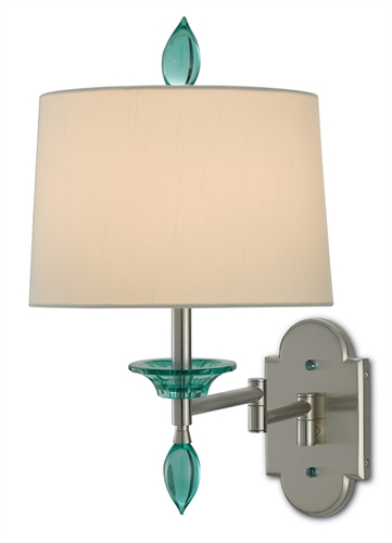Blodgett Swing Arm Wall Sconce <font color=a8bb35> Sold Out</font>