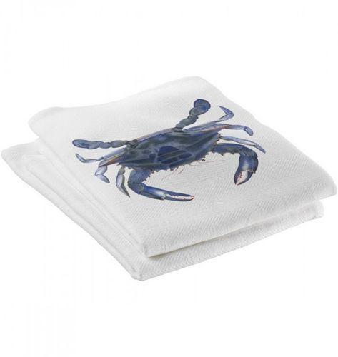 Blue Crab Kitchen Towels Set of Four