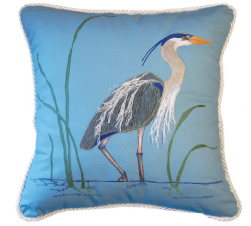 Blue Heron Indoor Pillow<font color=a8bb35> Sold Out</font>