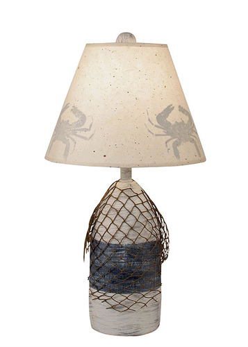 Buoy Lamp with Net in Cottage & Navy Accent