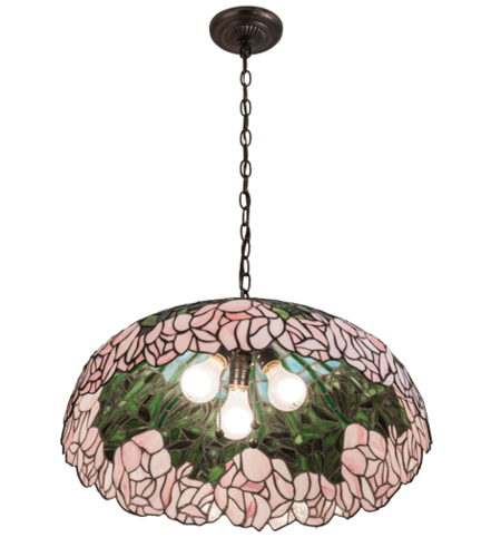 Cabbage Rose Pendant Light