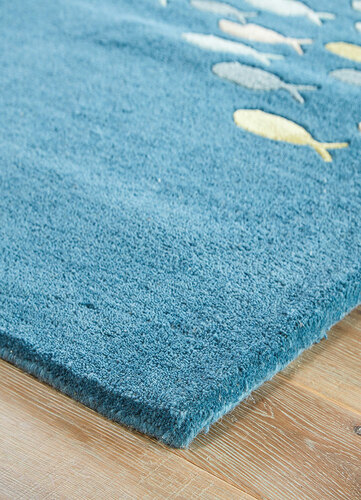 Coastal Resort Schooled Tufted Rug - Blue Harbor/Grey