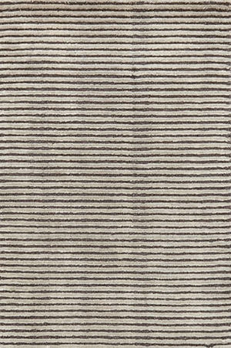 Cut Stripe Grey Hand Knotted Rug 20% OFF