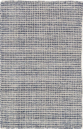 Homer Blue Loom Knotted Wool/Viscose Rug