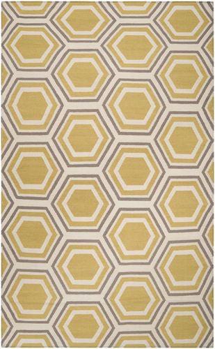 Fallon Yellow, Taupe & Beige Flat Pile Rug