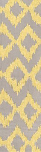 Frontier Brindle/Lemon Flat Pile Rug