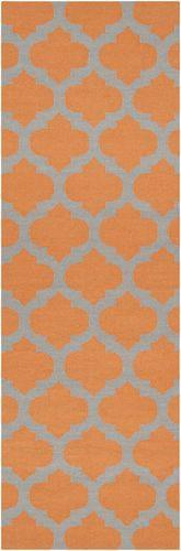 Frontier Flint Gray/Bright Orange Flat Pile Rug