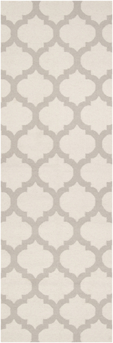 Frontier Oatmeal/White Classic Flat Pile Rug