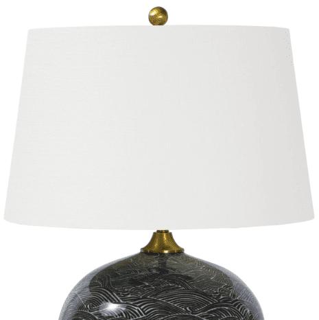 Harbor Ceramic Black Table Lamp