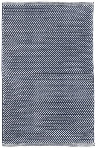 Herringbone Navy/Ivory Indoor/Outdoor Rug
