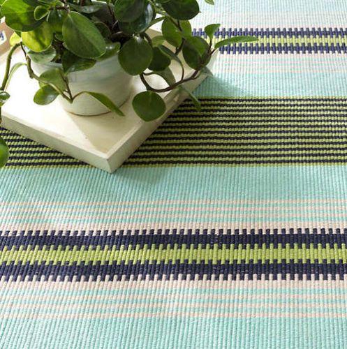 Hollis Stripe Woven Cotton Rug<font color=a8bb35> NEW</font>