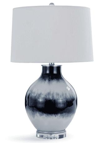 Indigo Glass Table Lamp