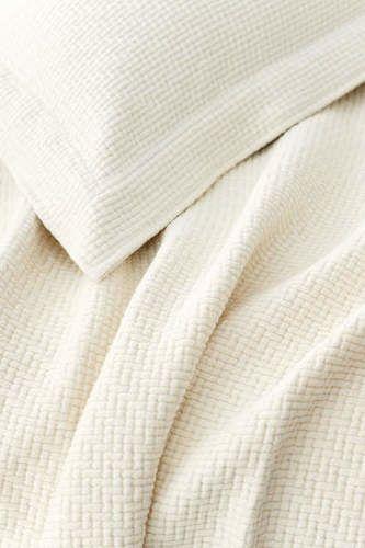 Interlaken Matelasse Ivory Coverlet