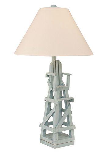 Life Guard Chair Table Lamp in Atlantic Grey